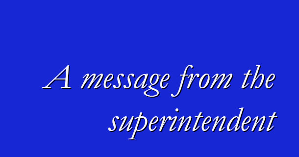 Please click the link below for a letter from Superintendent Tom Douglas regarding the appointment of the temporary principal at Horseheads High School. This letter has also been sent by email to district parents/ guardians. Thank you.